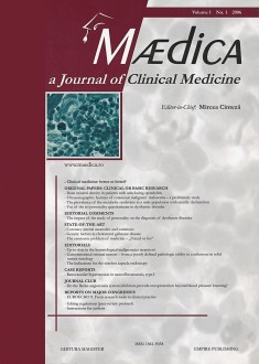 MÆDICA - a Journal of Clinical Medicine | Volume 1(4) No.1 2006