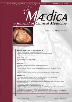 MÆDICA - a Journal of Clinical Medicine | Volume 2(5) No.1 2007
