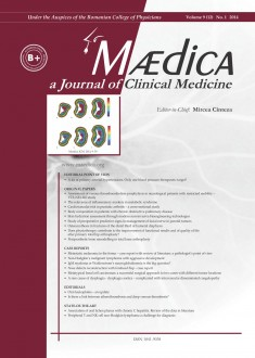 MÆDICA - a Journal of Clinical Medicine | Vol. 9, nr. 1, 2014