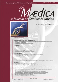 MÆDICA - a Journal of Clinical Medicine | Volume 2(5) No.2 2007