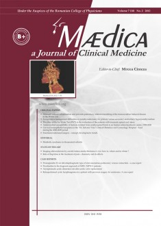 MÆDICA - a Journal of Clinical Medicine | Volume 7(10) No.2 2012
