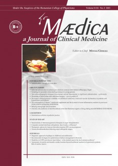 MÆDICA - a Journal of Clinical Medicine | Vol. 8 (11), no. 2 2013