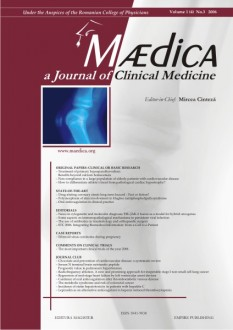 MÆDICA - a Journal of Clinical Medicine | Volume 1(4) No.3 2006
