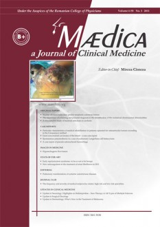 MÆDICA - a Journal of Clinical Medicine | Volume 6(9) No.3 2011
