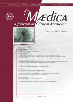 MÆDICA - a Journal of Clinical Medicine | Vol. 8 (11), no. 3 2013