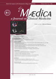MÆDICA - a Journal of Clinical Medicine | Vol. 9, nr. 3, 2014