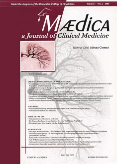 MÆDICA - a Journal of Clinical Medicine | Volume 1(4) No.4 2006