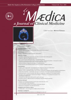 MÆDICA - a Journal of Clinical Medicine | Vol. 8, nr. 4, 2013