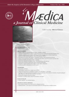 MÆDICA - a Journal of Clinical Medicine | Vol. 9, nr. 4, 2014