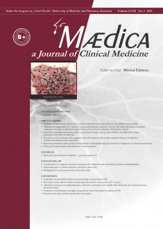 MÆDICA - a Journal of Clinical Medicine | Vol. 10, nr. 3, 2015
