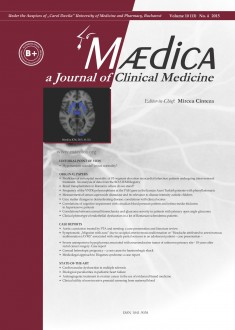 MÆDICA - a Journal of Clinical Medicine | Vol. 10, nr. 4, 2015