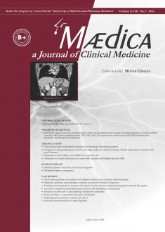 MÆDICA - a Journal of Clinical Medicine | Vol. 11, nr. 1, 2016