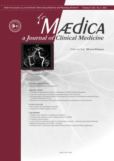 MÆDICA - a Journal of Clinical Medicine | Vol. 11, nr. 2, 2016