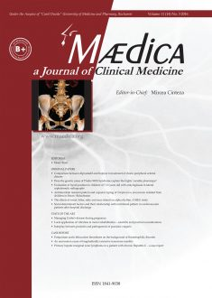 MÆDICA - a Journal of Clinical Medicine | Vol. 11, nr. 3, 2016