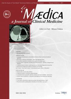 MÆDICA - a Journal of Clinical Medicine | Vol. 12, nr. 1, 2017