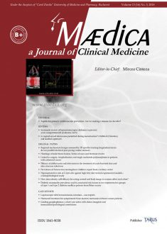 MÆDICA - a Journal of Clinical Medicine | Vol. 13, nr. 3, 2018