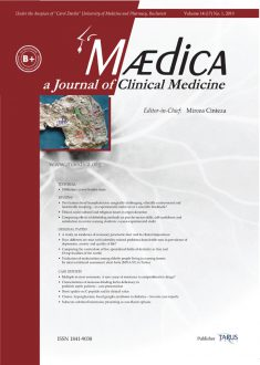 MÆDICA - a Journal of Clinical Medicine | Vol. 14, nr. 1, 2019